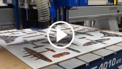 Graphics and Print Finishing Applications on a Trident CNC Router-Knife Hybrid