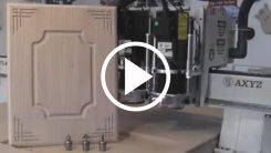 AXYZ CNC Router cutting a cupboard door