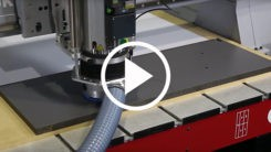 Cutting Trespa on a Pacer Series CNC Router - Video