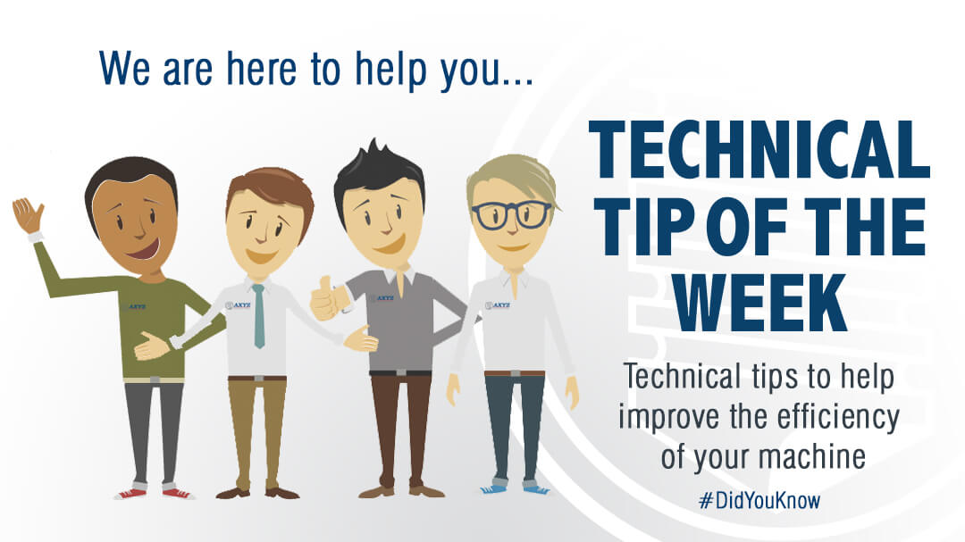 Technical Tip of the Week